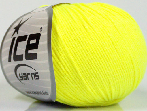 Lot of 4 Skeins Ice Yarns AMIGURUMI COTTON (60% Cotton) Yarn Neon Yellow