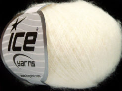 Lot of 10 Skeins Ice Yarns WOOL COMFORT SUPERFINE (34% Wool) Yarn White