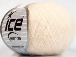 Lot of 10 Skeins Ice Yarns WOOL COMFORT SUPERFINE (34% Wool) Yarn Cream