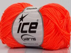 Lot of 10 Skeins Ice Yarns ETAMIN Hand Knitting Yarn Neon Orange