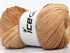 Lot of 4 x 100gr Skeins Ice Yarns MAGIC GLITZ Yarn Brown Shades Cream