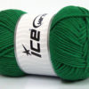 Lot of 4 x 100gr Skeins Ice Yarns LORENA WORSTED (55% Cotton) Yarn Dark Green