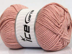 Lot of 4 x 100gr Skeins Ice Yarns LORENA WORSTED (55% Cotton) Yarn Powder Pink
