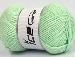 Lot of 4 x 100gr Skeins Ice Yarns LORENA WORSTED (55% Cotton) Yarn Mint Green