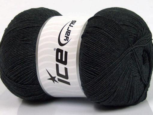 Lot of 4 x 100gr Skeins Ice Yarns LORENA SUPERFINE (55% Cotton) Yarn Anthracite Black