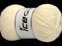 Lot of 4 x 100gr Skeins Ice Yarns LORENA SUPERFINE (55% Cotton) Yarn Ecru