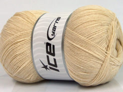 Lot of 4 x 100gr Skeins Ice Yarns LORENA SUPERFINE (55% Cotton) Yarn Light Beige