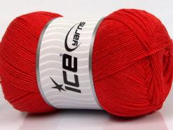 Lot of 4 x 100gr Skeins Ice Yarns LORENA SUPERFINE (55% Cotton) Yarn Red