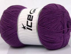 Lot of 4 x 100gr Skeins Ice Yarns LORENA SUPERFINE (55% Cotton) Yarn Purple