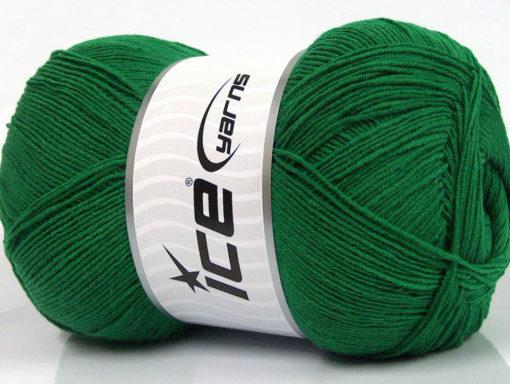 Lot of 4 x 100gr Skeins Ice Yarns LORENA SUPERFINE (55% Cotton) Yarn Dark Green