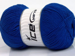 Lot of 4 x 100gr Skeins Ice Yarns LORENA SUPERFINE (55% Cotton) Yarn Blue