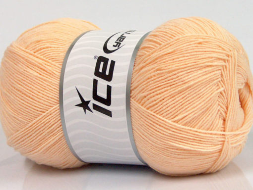 Lot of 4 x 100gr Skeins Ice Yarns LORENA SUPERFINE (55% Cotton) Yarn Light Orange