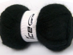 Lot of 2 x 150gr Skeins Ice Yarns SuperBulky ALPINE ANGORA (30% Angora) Yarn Black
