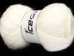 Lot of 2 x 150gr Skeins Ice Yarns SuperBulky ALPINE ANGORA (30% Angora) Yarn White