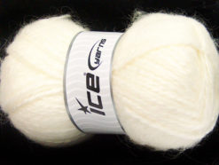 Lot of 2 x 150gr Skeins Ice Yarns SuperBulky ALPINE ANGORA (30% Angora) Yarn Cream