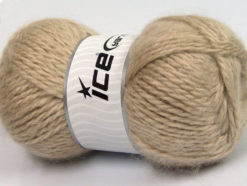 Lot of 2 x 150gr Skeins Ice Yarns SuperBulky ALPINE ANGORA (30% Angora) Yarn Camel