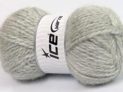Lot of 2 x 150gr Skeins Ice Yarns SuperBulky ALPINE ANGORA (30% Angora) Yarn Light Grey