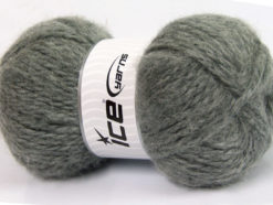 Lot of 2 x 150gr Skeins Ice Yarns SuperBulky ALPINE ANGORA (30% Angora) Yarn Grey