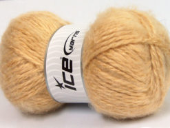 Lot of 2 x 150gr Skeins Ice Yarns SuperBulky ALPINE ANGORA (30% Angora) Yarn Cafe Latte