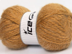 Lot of 2 x 150gr Skeins Ice Yarns SuperBulky ALPINE ANGORA (30% Angora) Yarn Light Brown