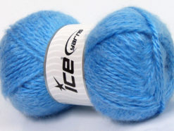 Lot of 2 x 150gr Skeins Ice Yarns SuperBulky ALPINE ANGORA (30% Angora) Yarn Blue