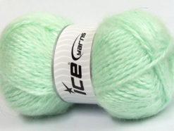 Lot of 2 x 150gr Skeins Ice Yarns SuperBulky ALPINE ANGORA (30% Angora) Yarn Mint Green