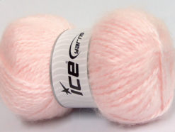 Lot of 2 x 150gr Skeins Ice Yarns SuperBulky ALPINE ANGORA (30% Angora) Yarn Light Pink
