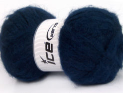 Lot of 2 x 150gr Skeins Ice Yarns SuperBulky ALPINE ANGORA (30% Angora) Yarn Navy
