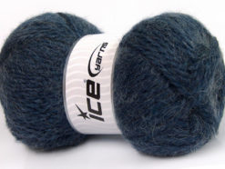Lot of 2 x 150gr Skeins Ice Yarns SuperBulky ALPINE ANGORA (30% Angora) Yarn Jeans Blue