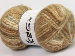 Lot of 2 x 150gr Skeins Ice Yarns SuperBulky ALPINE ANGORA COLOR (30% Angora) Yarn Camel Beige Cream