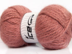 Lot of 2 x 150gr Skeins Ice Yarns SuperBulky ALPINE ANGORA (30% Angora) Yarn Salmon