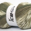 Lot of 2 x 150gr Skeins Ice Yarns JACQUARD WOOL (30% Wool) Yarn Khaki Beige Cream