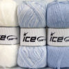 Lot of 3 x 100gr Skeins Ice Yarns BABY OMBRE Yarn White Light Lilac