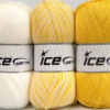 Lot of 3 x 100gr Skeins Ice Yarns BABY OMBRE Hand Knitting Yarn White Yellow