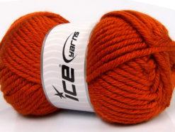 Lot of 2 x 200gr Skeins Ice Yarns ATLAS JUMBO Hand Knitting Yarn Orange