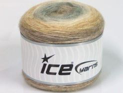 Lot of 3 x 100gr Skeins Ice Yarns CAKES ALPACA (25% Alpaca 25% Wool) Yarn Camel Cream Grey