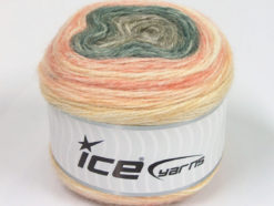 Lot of 3 x 100gr Skeins Ice Yarns CAKES ALPACA (25% Alpaca 25% Wool) Yarn Cream Salmon Grey Camel