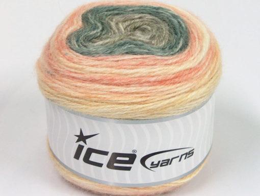 Lot of 3 x 100gr Skeins Ice Yarns CAKES ALPACA (25% Alpaca 25% Wool) Yarn Cream Salmon Grey Camel