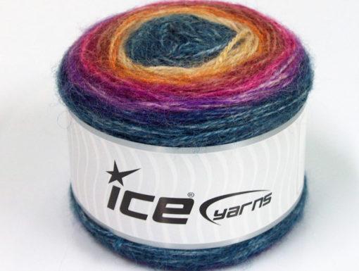 Lot of 3 x 100gr Skeins Ice Yarns CAKES ALPACA (25% Alpaca 25% Wool) Yarn Blue Fuchsia Burgundy Gold Cream