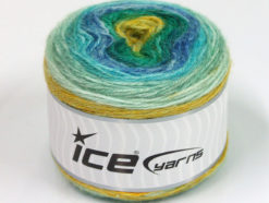 Lot of 3 x 100gr Skeins Ice Yarns CAKES ALPACA (25% Alpaca 25% Wool) Yarn Turquoise Blue Green Shades