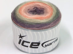 Lot of 2 x 150gr Skeins Ice Yarns CAKES MOHAIR (20% Mohair 20% Wool) Yarn Lilac Grey Salmon Pink