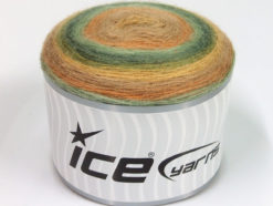 Lot of 2 x 150gr Skeins Ice Yarns CAKES MOHAIR (20% Mohair 20% Wool) Yarn Beige Green Shades Camel