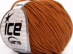 Lot of 8 Skeins Ice Yarns ALARA (50% Cotton) Hand Knitting Yarn Tobacco