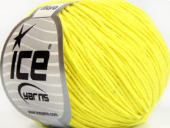 Lot of 8 Skeins Ice Yarns ALARA (50% Cotton) Hand Knitting Yarn Neon Yellow
