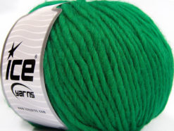 Lot of 4 x 100gr Skeins Ice Yarns FILZY WOOL (100% Wool) Yarn Green