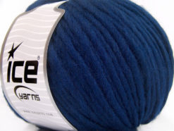 Lot of 4 x 100gr Skeins Ice Yarns FILZY WOOL (100% Wool) Yarn Navy