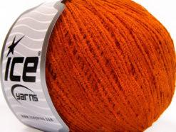 Lot of 6 Skeins Ice Yarns AMIGURUMI CHENILLE Hand Knitting Yarn Dark Orange