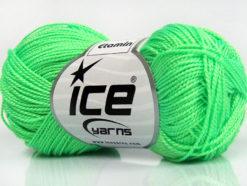 Lot of 10 Skeins Ice Yarns ETAMIN Hand Knitting Yarn Neon Green