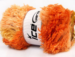 Lot of 4 x 100gr Skeins Ice Yarns LAMBKIN COLOR Yarn Copper Olive Green Orange Light Salmon