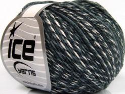 Lot of 8 Skeins Ice Yarns LORENA COLORFUL (55% Cotton) Yarn Grey Shades White